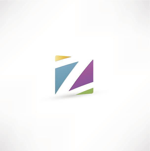 Abstract Letter Z vector art illustration