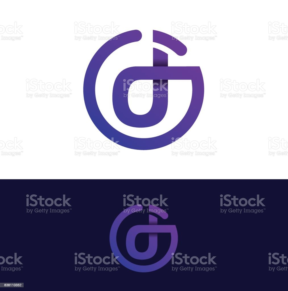 Dj Abstract Letters Cool Symbol For The Dj Party Stock Vector Art