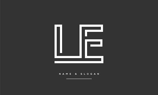 LE ,EL Abstract Letters Logo monogram