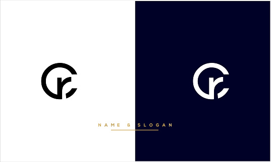 RC ,CR Abstract Letters Logo monogram