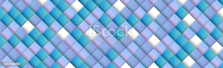 istock Abstract light background with many blue squares - Vector 1342966367