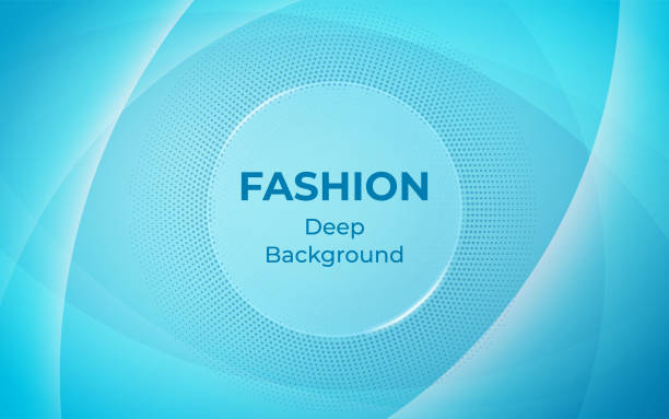 Abstract light blue background. Fashion and Trendy banner design. vector art illustration