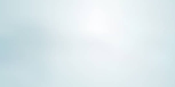 abstract light blue blurred background horizontal panoramic web banner. - miękkość stock illustrations