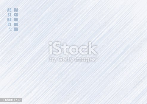 Abstract light blue striped lines streak diagonal background and texture. Vector illustration