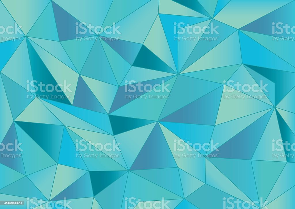 Abstract Light Blue Triangles 3d Background Stock