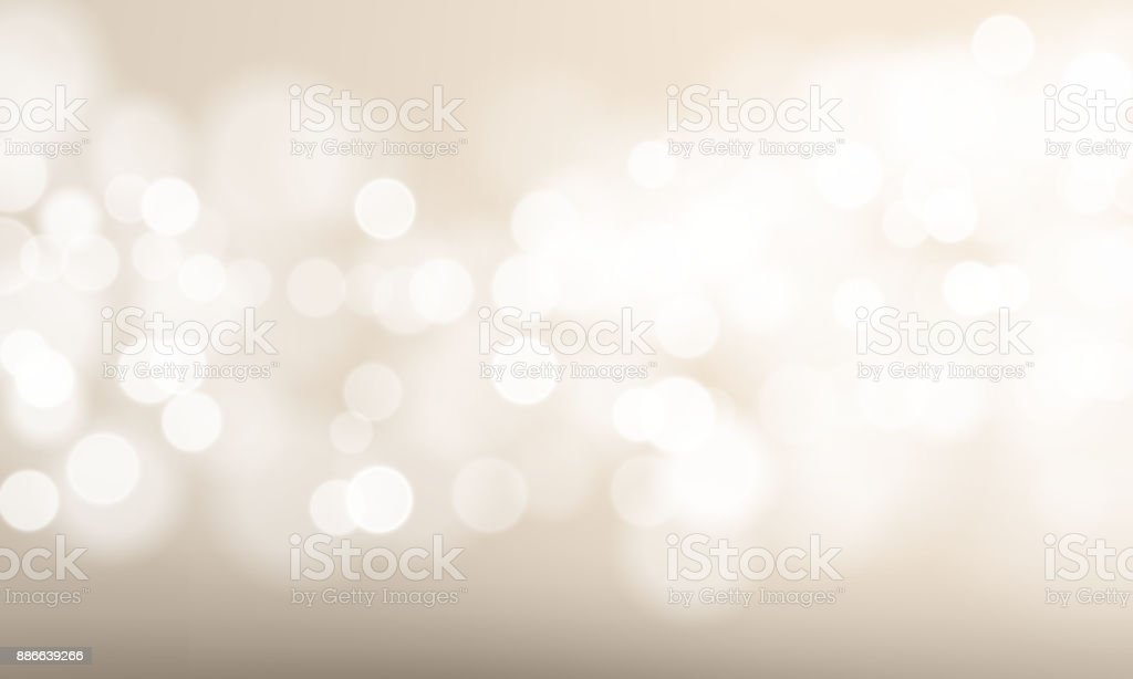 Abstract light blur and bokeh effect background. Vector defocused sun shine or sparkling lights and glittering glow for festival or white celebration background template - illustrazione arte vettoriale