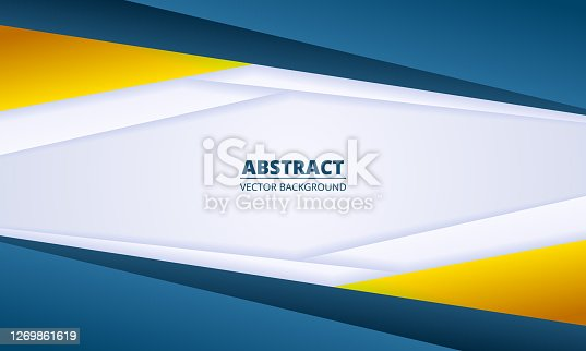 istock Abstract light diagonal background with colored gradient paper lines. 1269861619