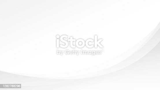 Abstract light gray and white lines curve smooth modern tech subtle background vector