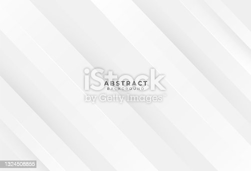 istock Abstract light gray silver background vector. White modern texture creative design. Geometric lines element for wallpaper, advertising, cover, poster, banner. Vector illustration 1324508855