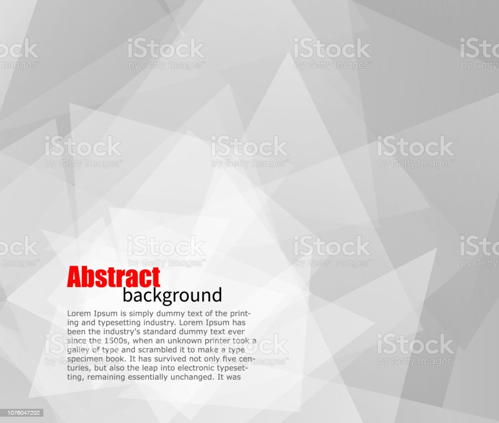 Abstract light grey background with place for text. For presentations and flyers. vector art illustration