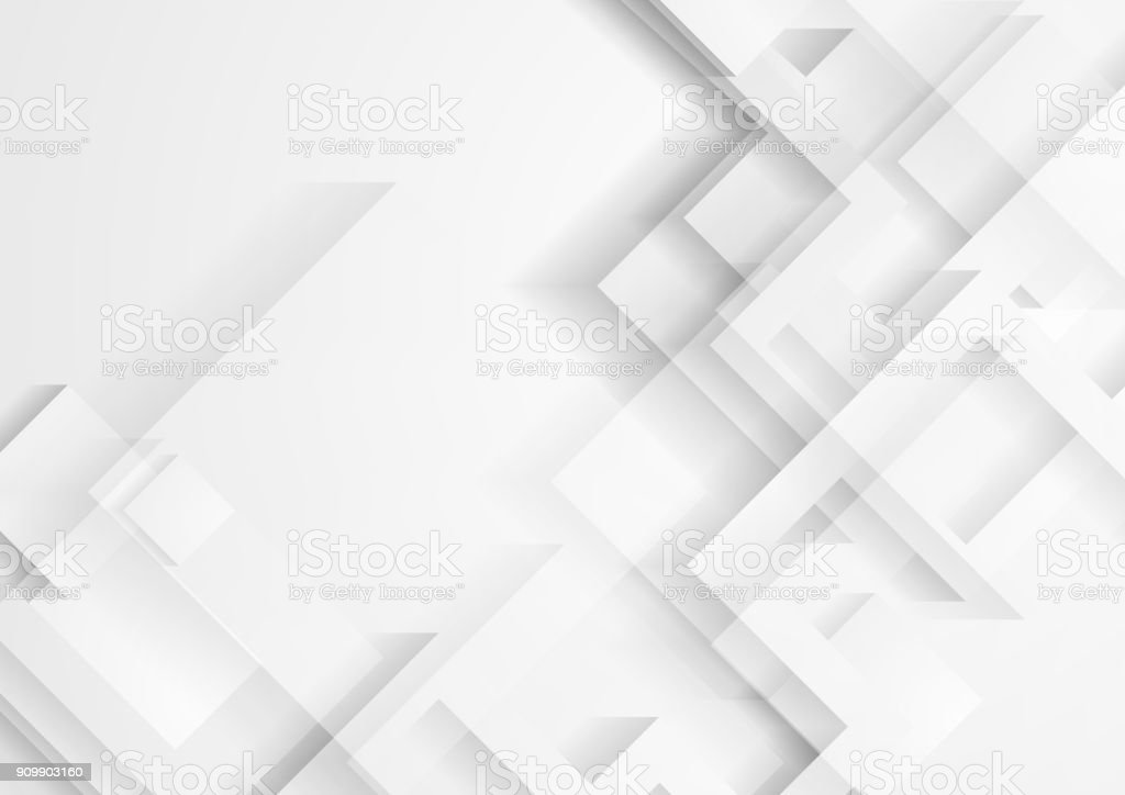 Abstract light grey technology geometric background vector art illustration