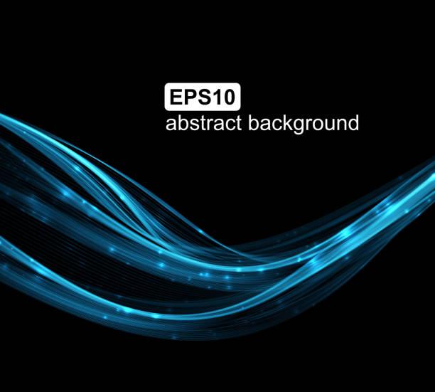 Abstract light wave futuristic background. vector art illustration