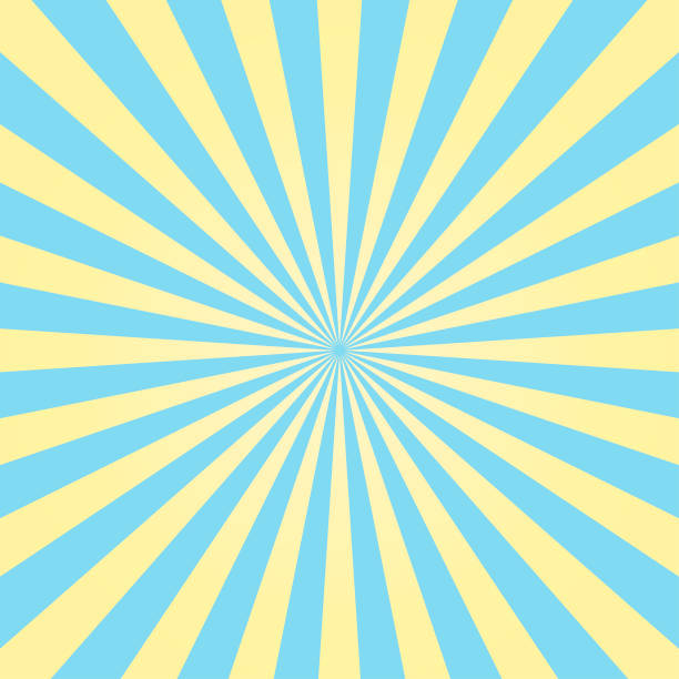 Abstract light yellow and blue sun rays background. Vector. Abstract light yellow and blue sun rays background. Vector. burst stock illustrations