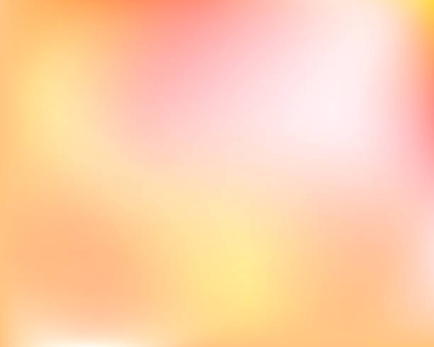 abstract light yellow orange bright blured gradient background. vector llustration - zachód słońca stock illustrations