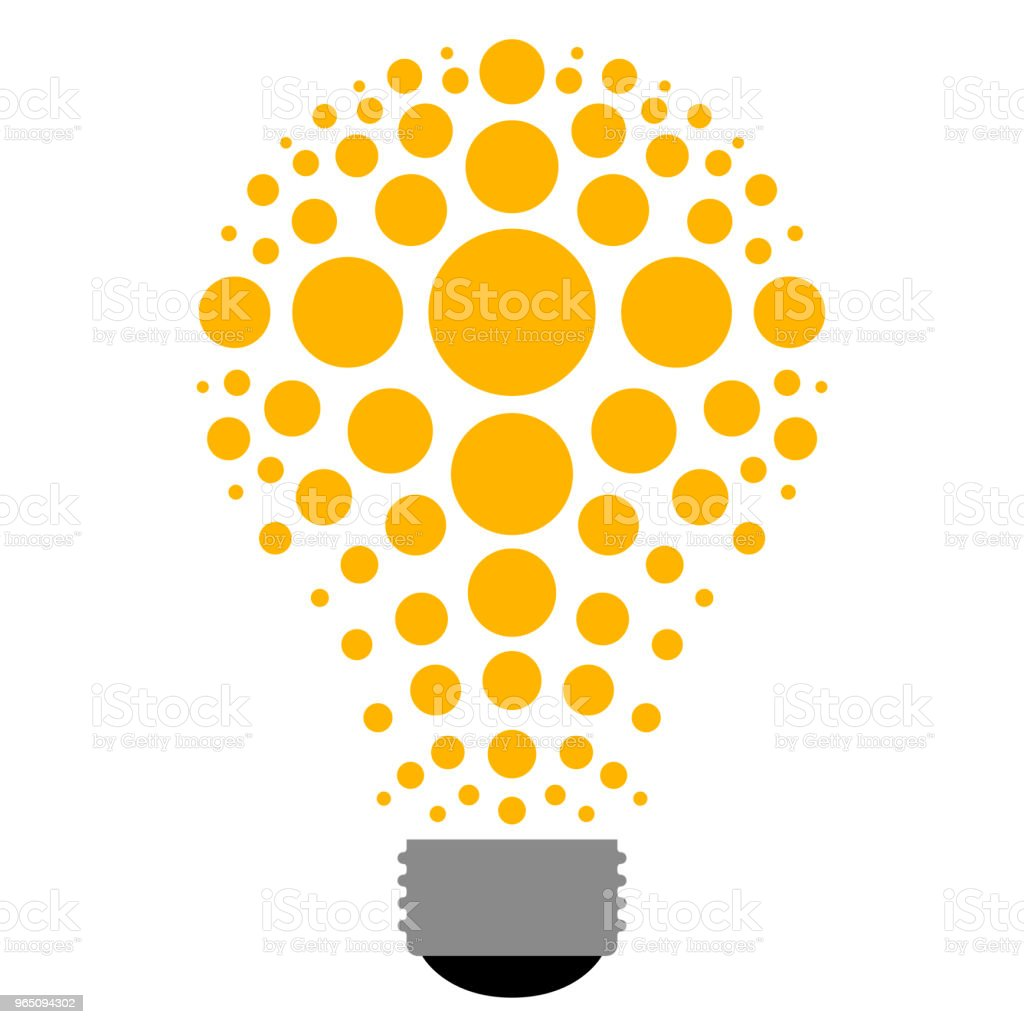 Abstract lightbulb icon royalty-free abstract lightbulb icon stock illustration - download image now