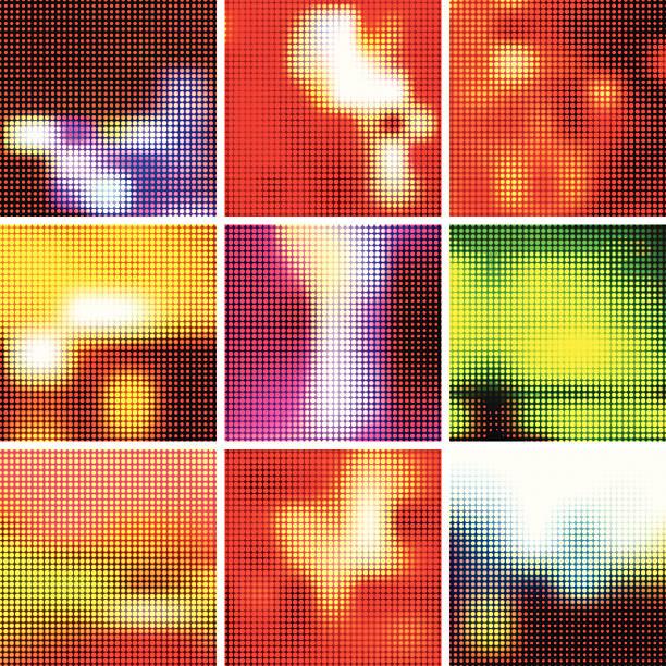 Abstract lights background set. EPS10 vector art illustration