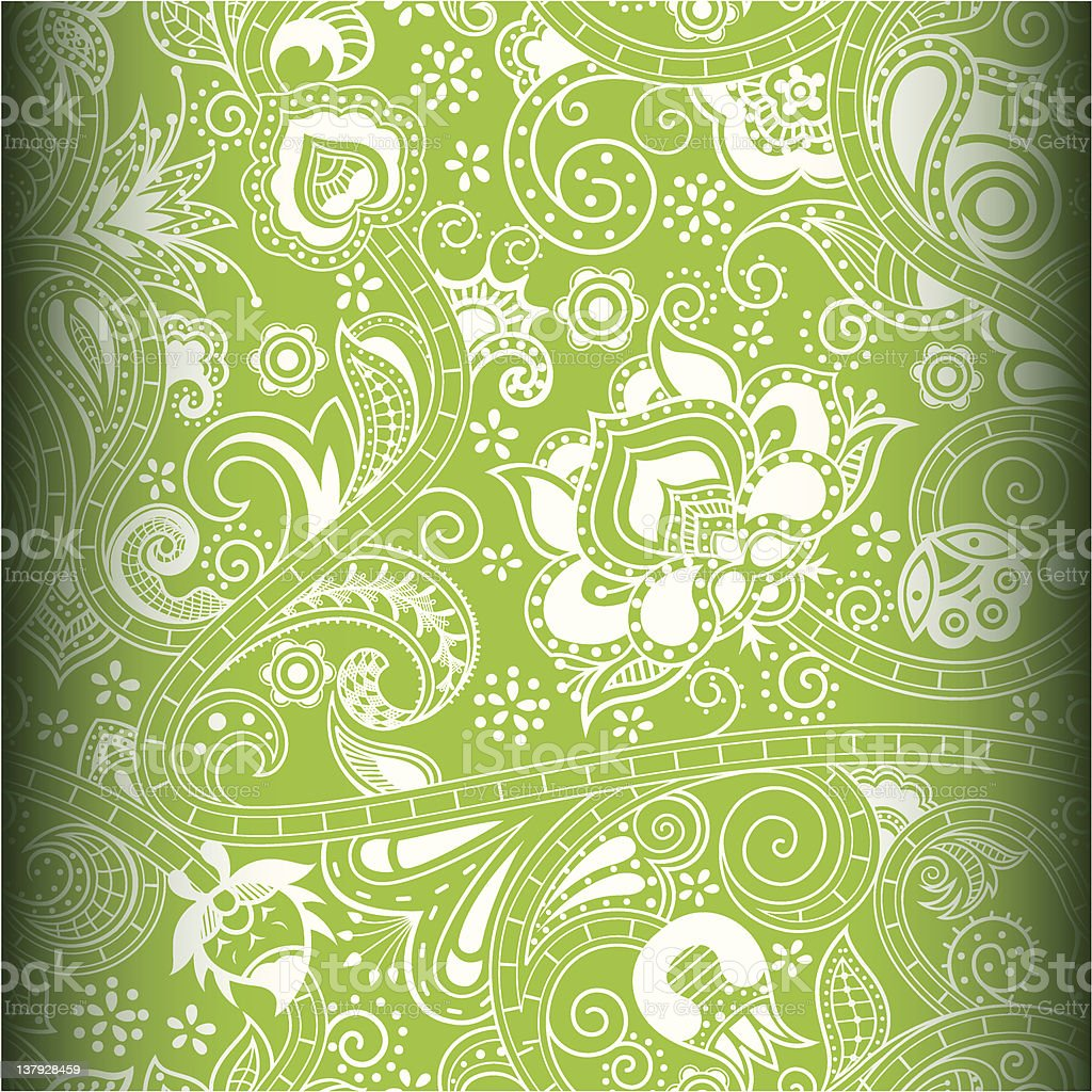 Abstract Lime Floral Pattern royalty-free stock vector art