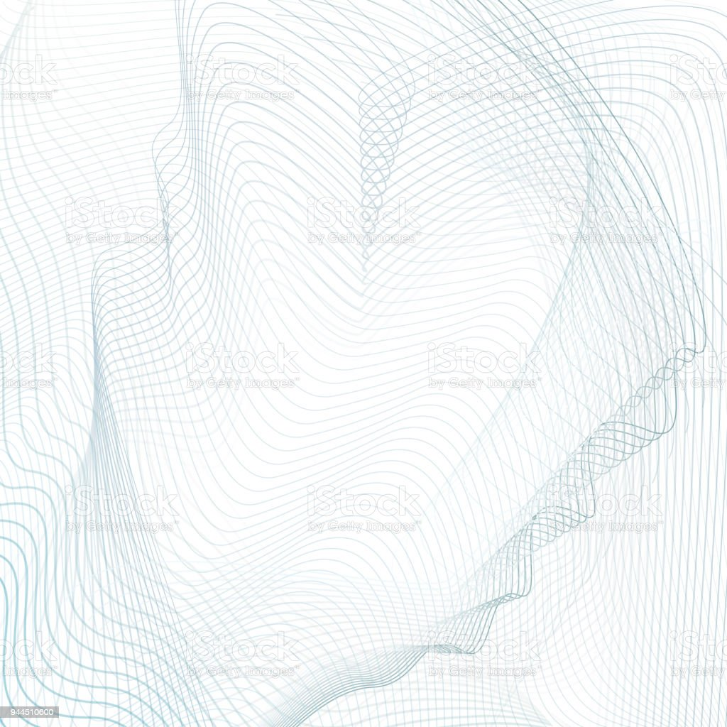 abstract line art design light blue gray waves on white background vector waving striped