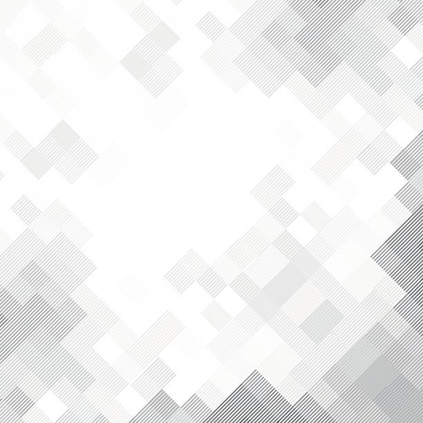 추상적임 라인아트 기하 배경기술 - 정사각형 구성 stock illustrations