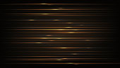Abstract background with gold horizontal lines