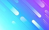 Abstract blue pink magenta gradient line dash background.