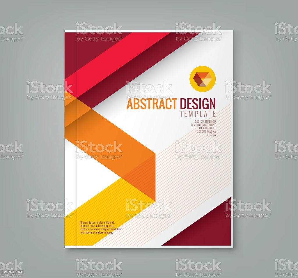 abstract line design background template for business annual report vector art illustration