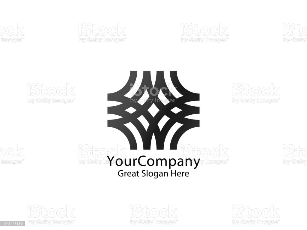 Abstrakte Linie Logo Symbol Vorlage Vektorillustration Stock Vektor ...