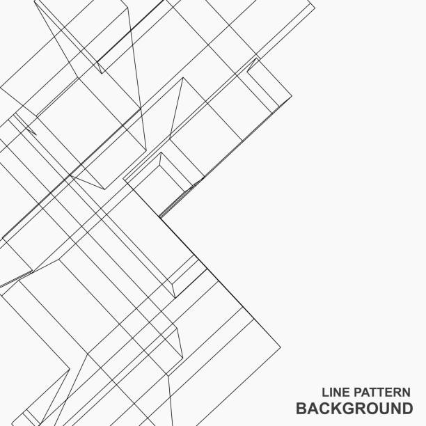 abstract line pattern background - architecture designs stock illustrations