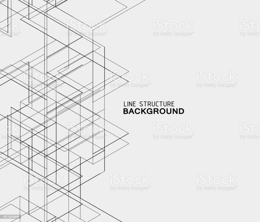 abstract line structure background vector art illustration