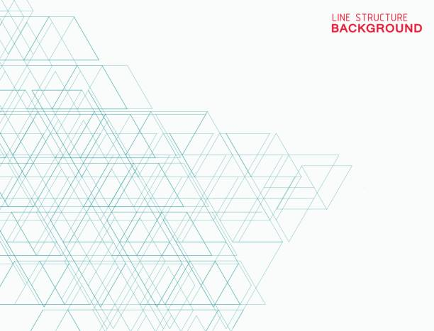 abstract line structure background - architecture patterns stock illustrations