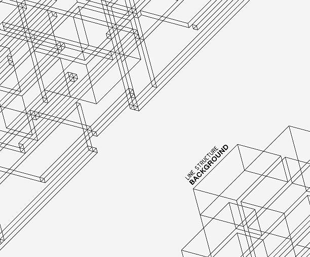 Estrutura abstrata padrão de linha de fundo - ilustração de arte em vetor