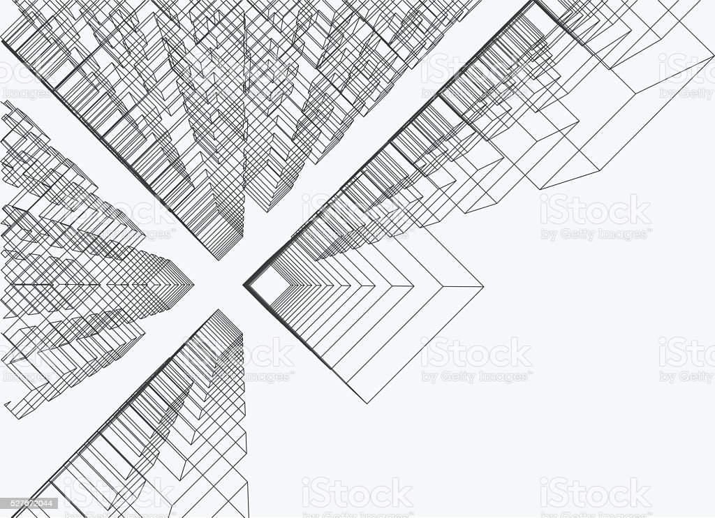 Drawing Vector Lines In Photo Cs : Abstract line structure pattern background stock vector