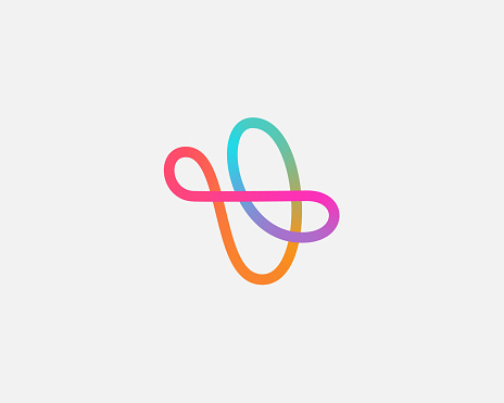 Abstract linear motion logo icon design modern minimal style illustration. Aircraft vector emblem sign symbol mark logotype