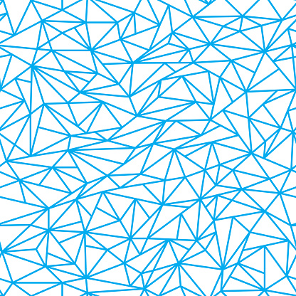 Abstract linear polygons seamless pattern