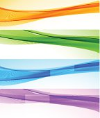 Abstract web banner. EPS10. Contains transparent element.