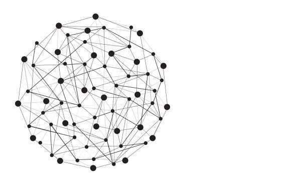 추상 라인과 글로벌 연결의 점 - 수다 stock illustrations