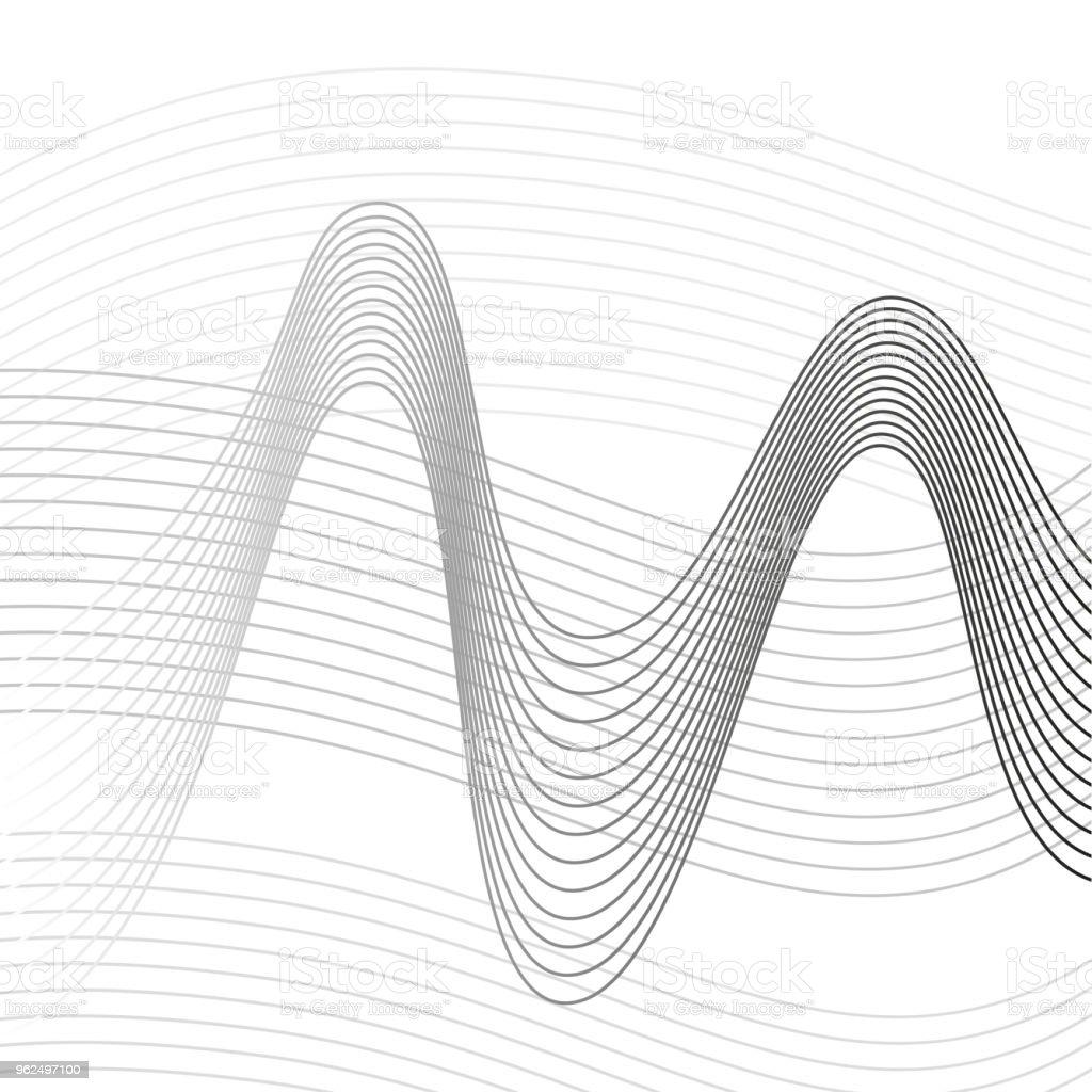 Fundo de linhas abstratas para design - Vetor de Abstrato royalty-free