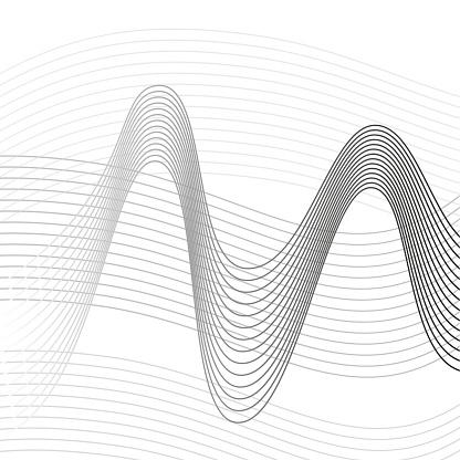 Vetores de Fundo De Linhas Abstratas Para Design e mais imagens de Abstrato