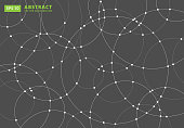 Abstract lines circles round Overlap . concept for your design, Vector Illustration
