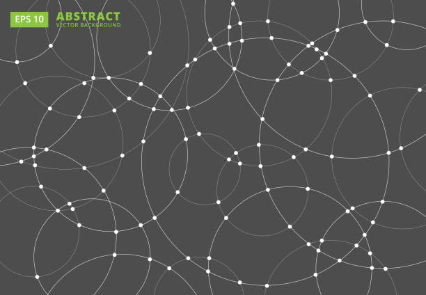 abstract lines circles round overlap . concept for your design, vector illustration - wir kształt stock illustrations