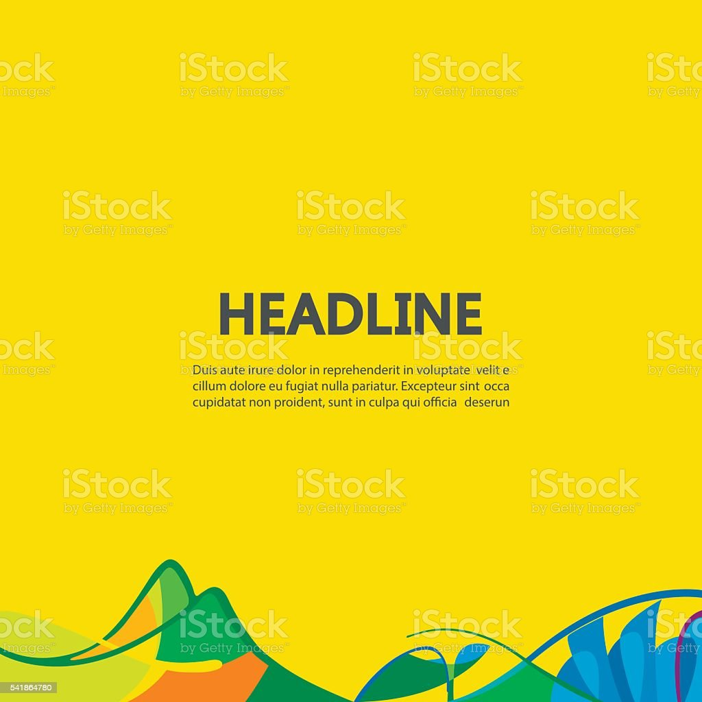 Abstract lines on a yellow background. vector art illustration