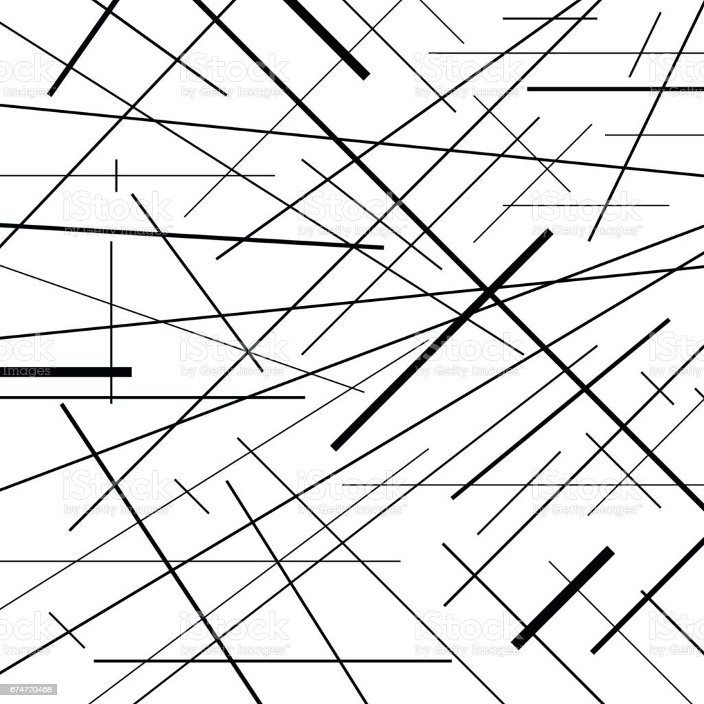 Abstract Line Art Design : Abstract lines pattern design background in black and