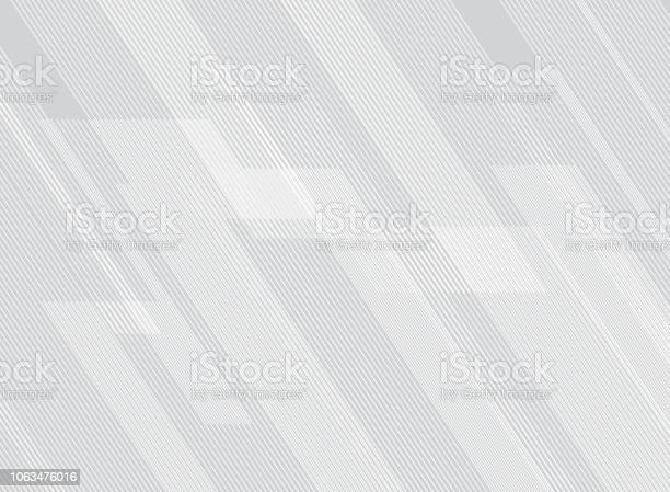 Abstract Lines Pattern Technology On White Gradients Background Stock Illustration - Download Image Now