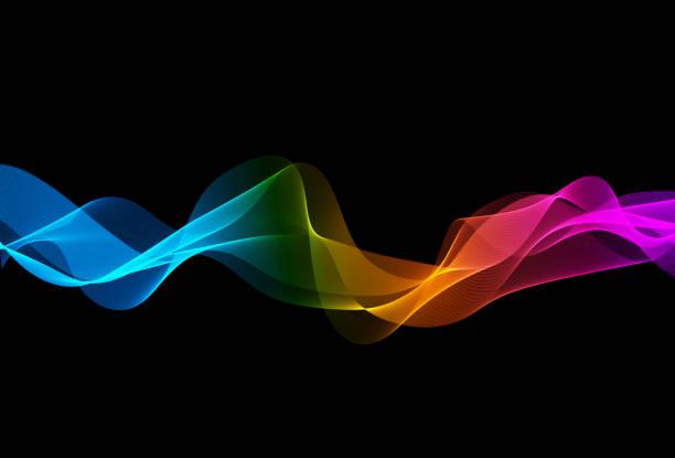 bildbanksillustrationer, clip art samt tecknat material och ikoner med abstrakta linjerna - spektrum