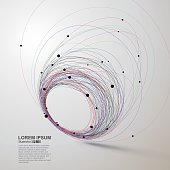 Abstract lines, vector illustration.