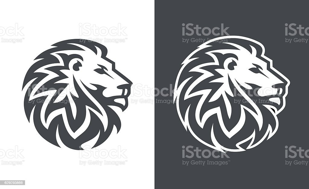 abstract lion head logo vector design - Illustration vectorielle
