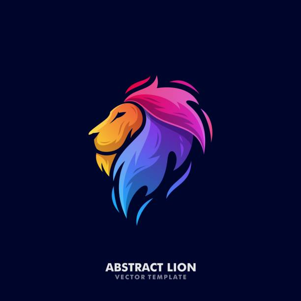 Abstract Lion Illustration Vector Template Abstract Lion Illustration Vector Template. Suitable for Creative Industry, Multimedia, entertainment, Educations, Shop, and any related business lion stock illustrations