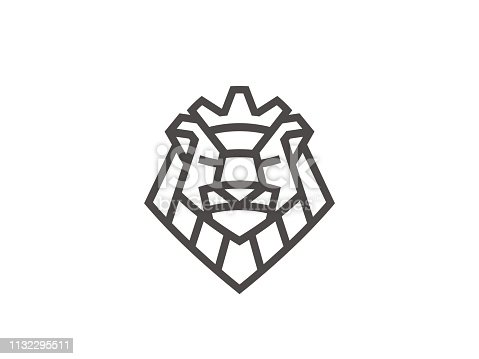 istock Abstract lion sign template. Vector format. 1132295511