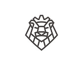 Abstract lion sign template. Vector format.