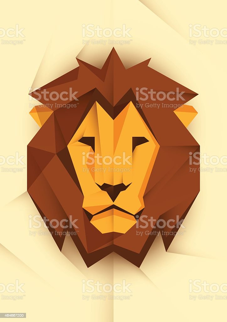 Abstract lion's head. vector art illustration